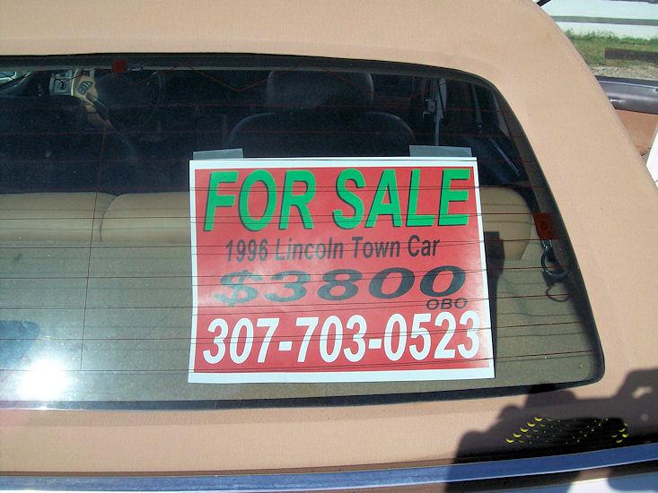1996 lincoln town car. Black Bedroom Furniture Sets. Home Design Ideas